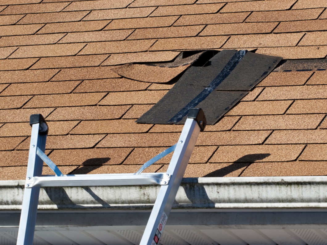 Repairing hail damage to residential roofing